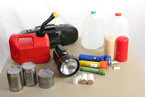 A collection of items necessary to survive in the aftermath of a hurricane